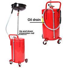 68L Large Air Oil Drain Drainer Tank Pan Garage 18 Gallon Waste Collect Portable