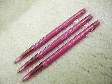 (3 Pens) PILOT Erasable FRIXION ball slim 0.38mm roller pen, Wine Red (Japan)