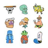 Spongebob Enamel Pins Squidward Patrick Star Mermaid Man Barnacle Boy Lapel Pins