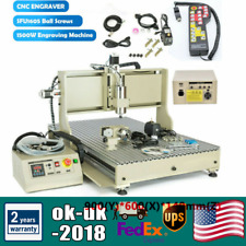 New Listing4 Axis Cnc 6090 Router 1500w 3d Engraver Metal Milling Engraving Machine Usbrc