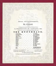 "Queen Victoria ""THE HUNCHBACK"" James Knowles 1860 Windsor Castle England Program"