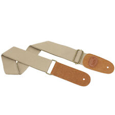 New IRIN Adjustable Canvas Acoustic/Electric Guitar & Bass Strap Beige