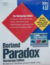 Borland Paradox 4.5 Workgroup w/ Manual PC data relational database application!