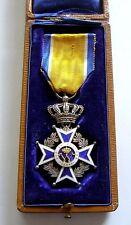 f343 NETHERLANDS Order of ORANIEN-NASSAU Knight - silver enameled with case