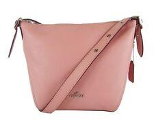 ** COACH 21377 DUFFLETTE Peony Pink Leather Small Crossbody Bag $250.00