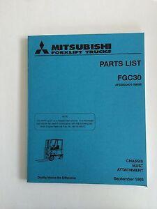 Mitsubshi Forklift Parts Manual FGC30