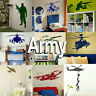Army Wall Stickers! Boys Home Transfer Graphic  Military Decal Decor Stencil Art