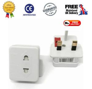 Shaver  Adapter Toothbrush epilator travel 2 Pin to UK 3 Pin fused.240v