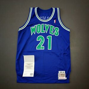 100% Authentic Kevin Garnett Mitchell Ness 95 96 Signed Jersey UDA Limited Edt