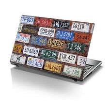"TaylorHe 15.6"" Laptop Vinyl Skin Sticker Decal Vintage USA Number Plates 2155"