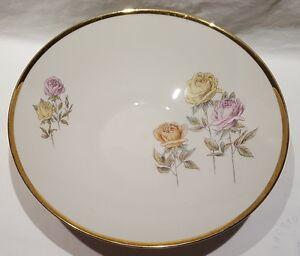 Vintage Mitterteich Bavaria Max Emmanuel & Co Rose Pattern Porcelain Bowl c1960s