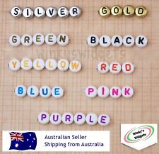 100 x Alphabet Letter beads - round 7mm - You choose specific letters & colours