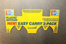 Vintage Advertising Pepsi Paper 2 Pack 2 Liter Holder Plastic Bottles Cardboard