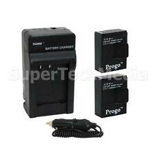 2 x Battery + Charger Kit For GoPro HD Hero 3 HERO3 Camera AHDBT-201 AHDBT-301