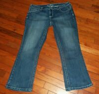 Womens MAURICES Stretch Distressed Straight Denim Jeans Size 20