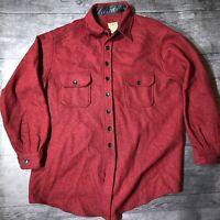 LL Bean Wool Nylon Heavy Flannel Shirt Mens XL