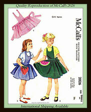 Pinafore APRON Fruit APPLIQUE McCall's 2026 CHILD Girls Small 6-8 FABRIC PATTERN