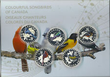 2015 Colorful Songbirds Birds of Canada 5 Coin $10 Silver Set Musical Box 1 COA