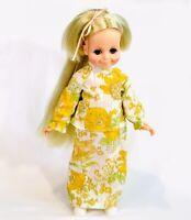 "Vintage 1969/70 Ideal Doll Velvet Blonde Dress Shoes 15.5"" Growing Hair Excellen"