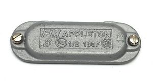 """Appleton 180F 1/2"""" Cast Iron Grayloy Cover for Form 8 Body"""
