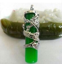 New Fashion Jewelry green jade Dragon necklace/Pendant +Chain