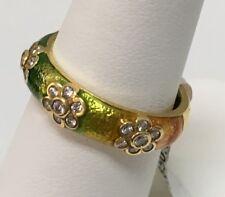 Hidalgo 18k Yellow Gold Lime Green,Orange Diamonds .24ct Size 6.25 RJ3118G