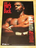 MIKE TYSON vs. McNEELEY POSTER 1995 FIGHT AFTER PRISON / ORIGINAL VINTAGE MINT