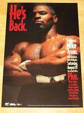 Mike Tyson Vs.McNeeley Poster 1995 Fight After Prison/Original Vintage Mint