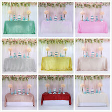 90x132'' Sparkly Sequin Tablecloth Rectangle Wedding Party Dining Table Cover