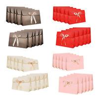 10Er Pack Papier GeschenktüTen mit Schleife Band Deluxe Schal Handschuhe We V7U6