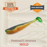 Pontoon21 Awaruna Fishing Soft Plastic Bait Mold Shad DIY Lure 37-112 mm