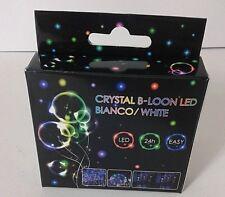 PALLONCINO TRASPARENTE ROTONDO + LED CRYSTAL B-LOON BIANCO  FESTA PARTY DJ
