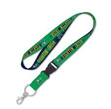 "Notre Dame Fightin Irish 24"" Detachable Quality Lanyard Key Chain NCAA Hologram"