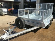 NEW 10 X 6 TANDEM BOX TRAILER HEAVY DUTY 600mm cage and ramp 2000kg rated