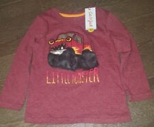 "Cat and Jack - Toddlers Shirt ""Little Monster"" (Red, 5T)"