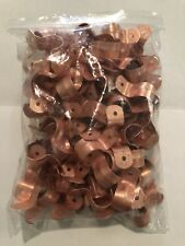 """LOT OF 100 1/2"""" (OD 5/8"""")TWO HOLE COPPER FITTING PIPE TUBE STRAP  PLUMBING"""