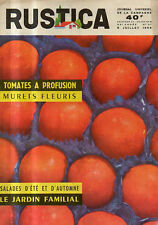RUSTICA n°27 1959 tomate murets fleuris salade d'ete