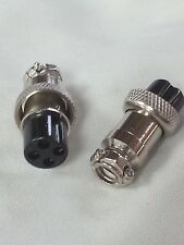 Pack of 2 - 4 Pin In-Line Mic Microphone Jack Female Mobile Connector UsFreeShip