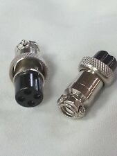 Pack of 2 - 4 Pin In-Line Mic Microphone Jack Female Mobile Connector UsFre