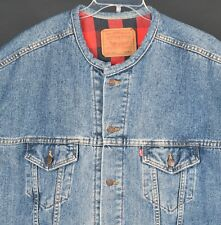 Levis Denim Jacket Buffalo Plaid Lining Womens XXL Made USA 70417 4891