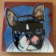 Dog Puppy Decorative Wall Art Ceramic Tile 4x4
