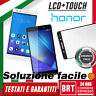 "DISPLAY LCD+TOUCH SCREEN+VETRO PER HUAWEI HONOR 7 5,2"" PLK-L01 SCHERMO BRT_24H!!"