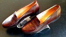 Salvatore Ferragamo Brown Leather Dress Shoes Loafers Men 7.5D Italy