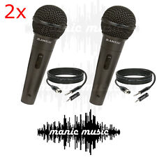 2x SANSAI Dynamic Microphone Mic + Free Cable + Adapter Karaoke Recording Studio