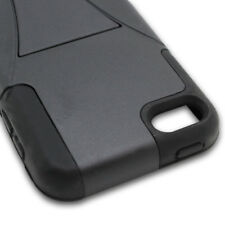 Black Hybrid Case For Apple iPod Touch 5 Heavy Duty Stand Armor