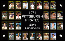 PITTSBURGH PIRATES 1971 World Series Vintage Baseball Card Custom Poster Decor