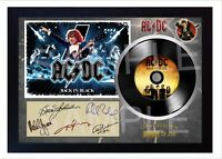 NEW! ACDC Back in Black MUSIC SIGNED FRAMED PHOTO LP Vinyl