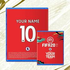 """PS4 FIFA 20 Custom Team cover sleeve Personalised """"Includes Free Case"""""""