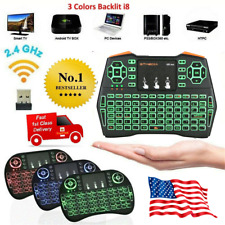 Mini 2.4GHz Cordless Keyboard 3 Backlit i8 Keypads for Android TV Box PC,Laptop
