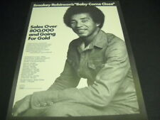 Smokey Robinson says Baby Come Close 1974 Soul Promo Poster Ad mint cond